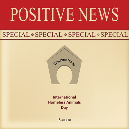 News sheet - Special positive news for calendar event - International Homeless Animals Day