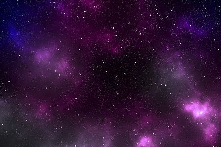 Space - star space with a lilac nebula