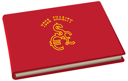 The book of records is your charity, to register assistance Stock Illustratie