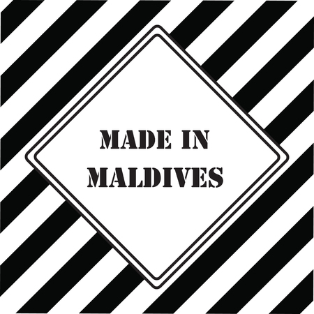 The industrial symbol is Made in Maldives