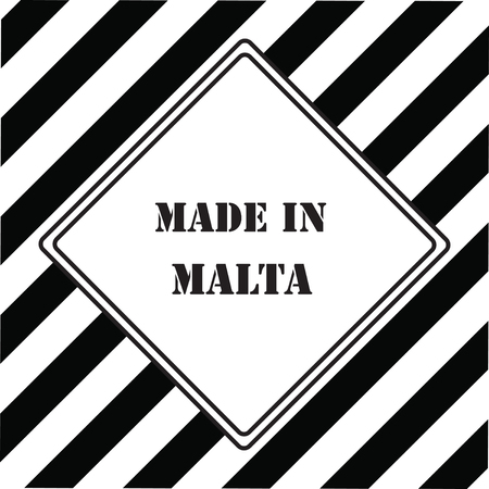 The industrial symbol is Made in Malta
