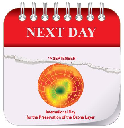 Calendario - Giorno successivo. Dopo il 15 settembre, Giornata Internazionale per la Preservazione dello Strato di Ozono
