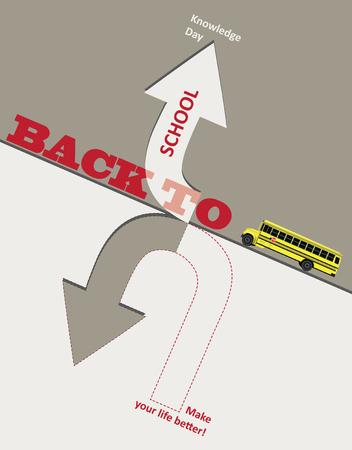 Poster Zurück zur Schule. Festtag des Wissens Vektorgrafik