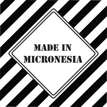 The industrial symbol is Made in Micronesia