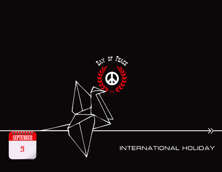 Calendar events - September Day International Day of Peace