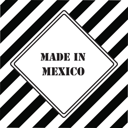 The industrial symbol is Made in Mexico