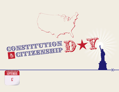 Calendar events of September - Congratulations for Constitution Day and Citizenship Day