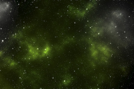 Space - star space with a green nebula