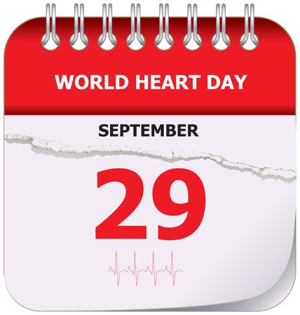 September holiday world heart day Illustration