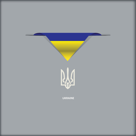 The combination of colors of the national flag Ukraine