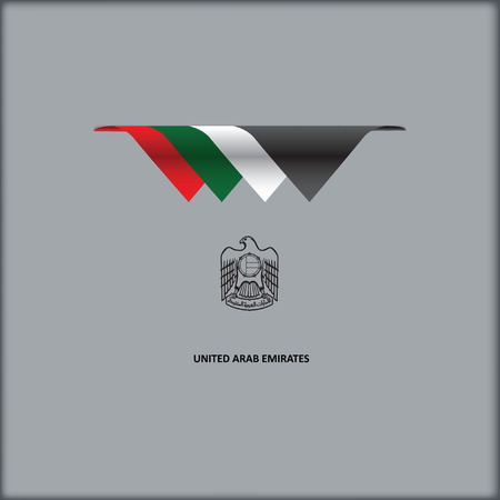The combination of colors of the national flag United Arab Emirates Ilustração