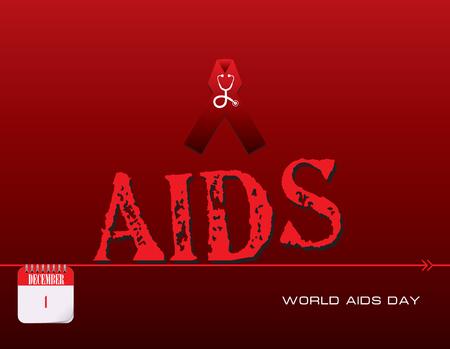 Calendar events of December - Congratulations for World AIDS Day
