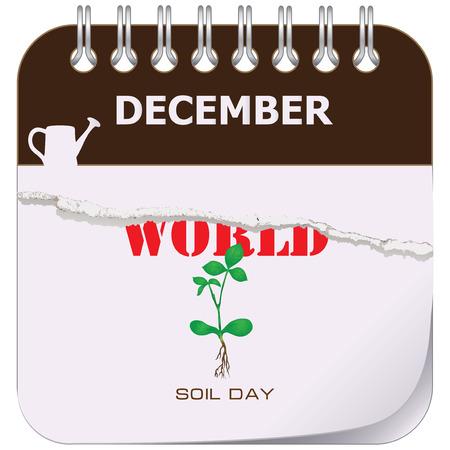 On the calendar World Soil Day. Vector illustration Illustration