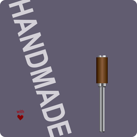 Label for handmade with a grinding tool