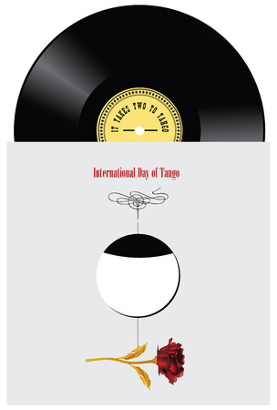 Vinyl records for holiday International Day of Tango