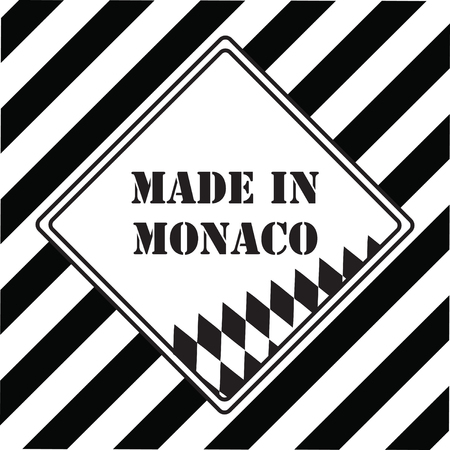 The industrial symbol is Made in Monaco