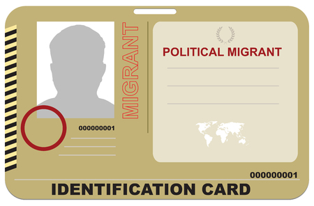 Abstract Identification card forpolitical migrant