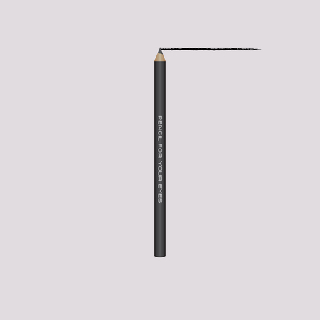 Black cosmetic pencil for eyelash contour line