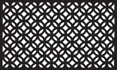 Segmento di griglia decorativo per recinzione esterna. Illustrazione vettoriale. Vettoriali