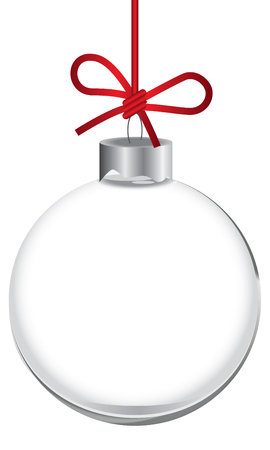 Classic transparent ball for decorating the Christmas tree 矢量图像