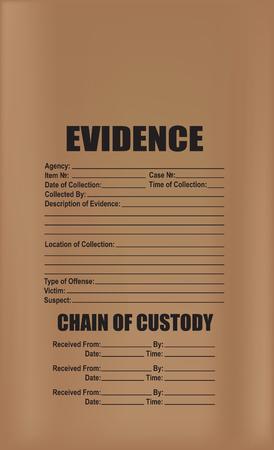 Bolsa de papel para evidencia de papel grueso.
