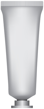 Classic tube for creams or ointments with a screw cap Illustration