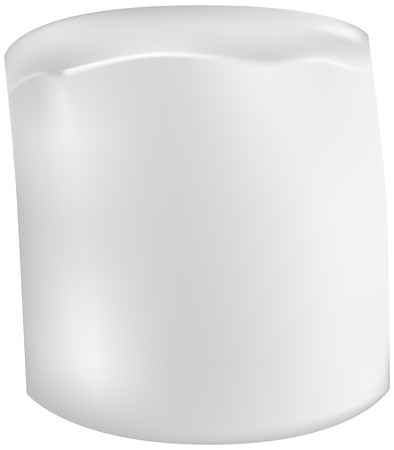 White marshmallow in the shape of a cylinder Ilustração