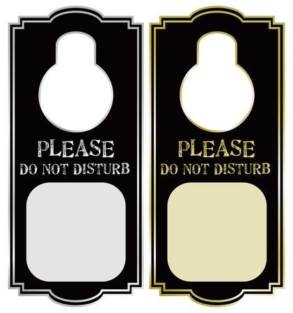 Warning on the door handle - Please do not disturb