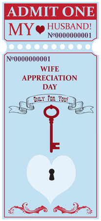 Ticket for my husband for the holiday Wife Appreciation Day