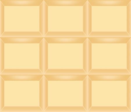 Classic white chocolate bar in individual segment format