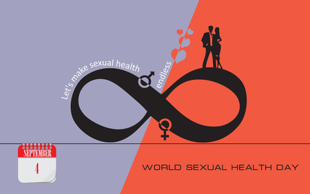 Lets make sexual health endless. World Sexual Health Day Illustration