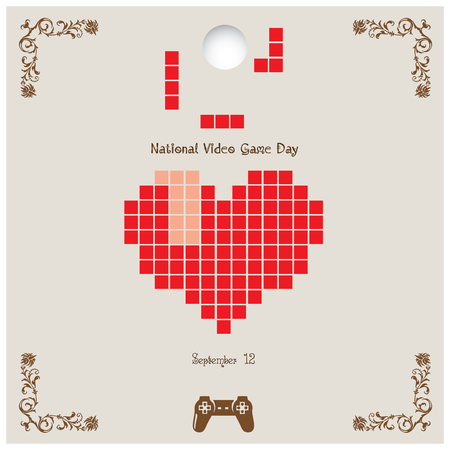 Congratulations National Video Game Day. Vector illustration Illustration