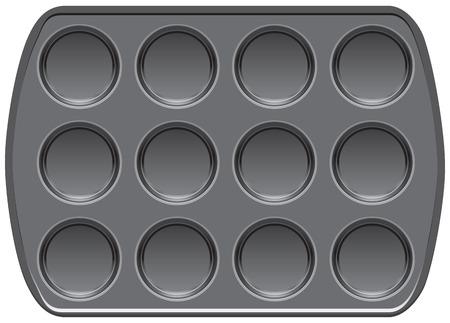 Antihaftbeschichtete Backformen Muffin-Top-Backform Vektorgrafik