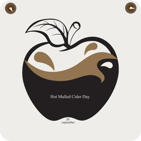 A reminder of the celebration of Hot Mulled Cider Day Stock Illustratie