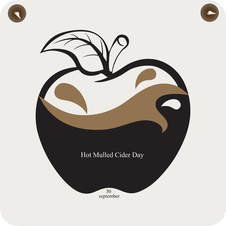 A reminder of the celebration of Hot Mulled Cider Day Çizim