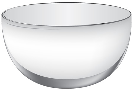 Classical oval glass big punch-bowl. Empty beverage container. Illustration