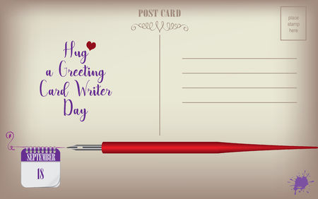 Post Card for event Greeting Card Writer Day.