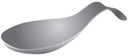 Cucchiaio in acciaio inossidabile. Supporto per cucchiai sporchi durante la cottura. Riposo per i cucchiai.