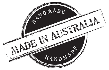 Stamp print Made in Australia. Handmade. Vector illustration
