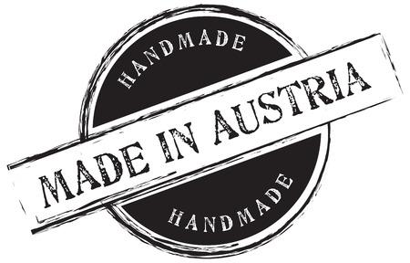Stamp print Made in Austria. Handmade. Vector illustration