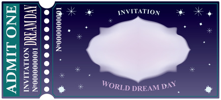 Invitation World Dream Day. The event is celebrated on September 25 Çizim