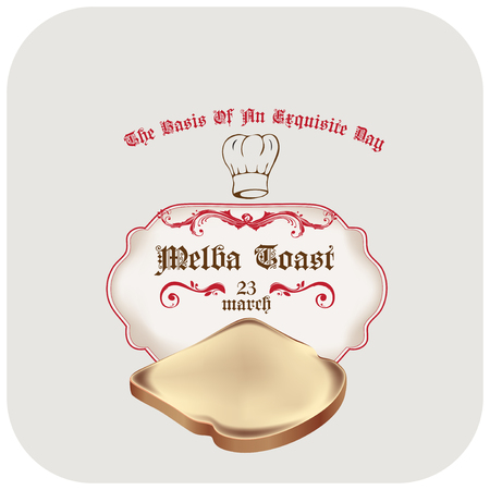 The basis of an exquisite day - Melba Toast