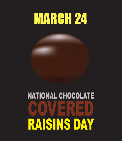 National chocolate covered raisins day - 24 march 스톡 콘텐츠 - 120433000