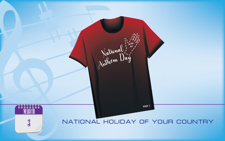 Postcard for holiday - National Anthem Day of your country
