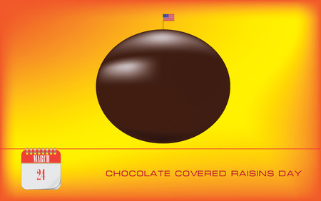 Postcard for National Chocolate Covered Raisins Day