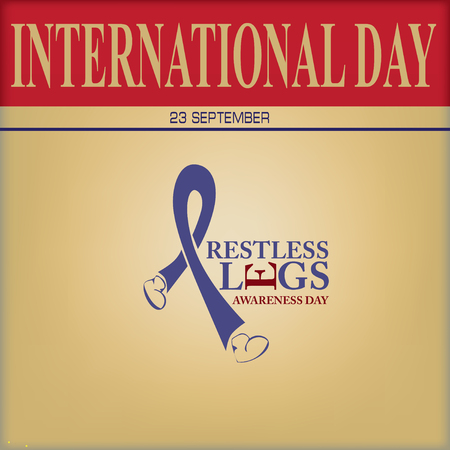 International Day 23 September - Restless Legs Awareness Day Иллюстрация