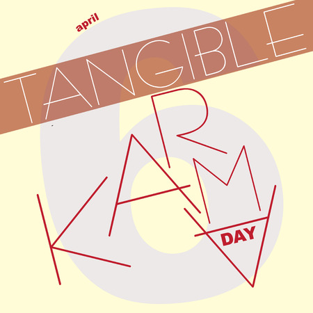 Card to the April date - Tangible Karma Day 向量圖像