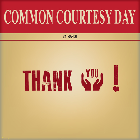 Poster for Common Courtesy Day - Thank You! Illustration