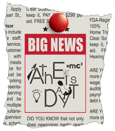 Announcement in the newspaper - news Day of the Atheist. April 1
