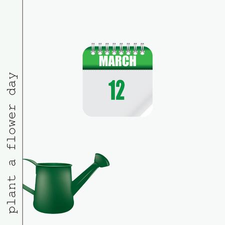 Calendar Event Plant a Flower Day. Date associated with gardening and floriculture Ilustração